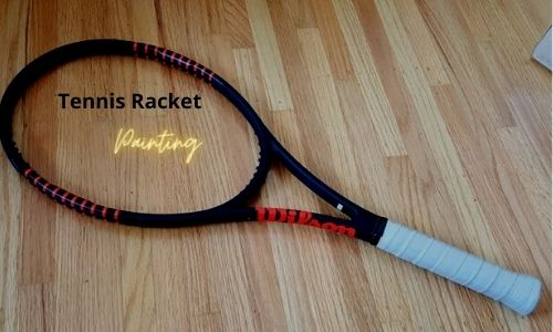 tennis racket painting